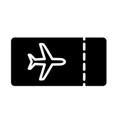 plane ticket icon simple minimal 96x96 pictogram vector image