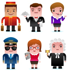 Professional occupation Icons vector
