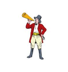 Ringmaster with bullhorn vector