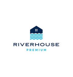River house logo icon vector