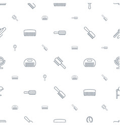 Salon icons pattern seamless white background vector