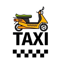 Scooter taxi transport poster vector image