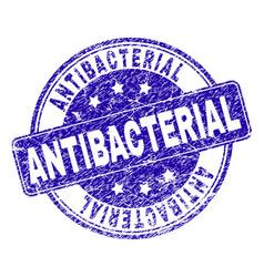 Scratched textured antibacterial stamp seal vector