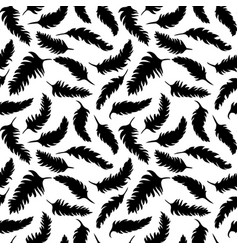 seamless background pattern with black feathers vector image