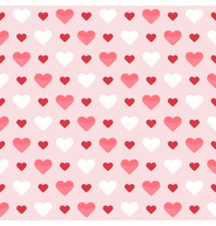 Seamless pattern with cute colorful hearts on a vector image