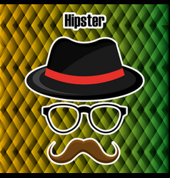 set accessories style hipster vector image