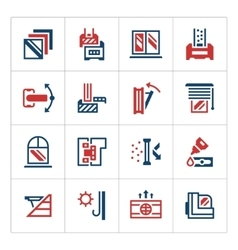 Set color icons of modern window vector