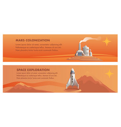 shuttle technical building red planet vector image