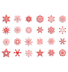 simple winter snowflakes vector image
