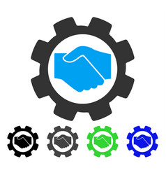 Smart contract setup gear flat icon vector