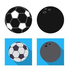 Sport and ball symbol set vector