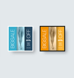 Square post template for social media with vector