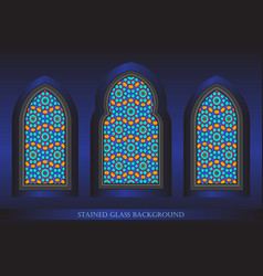 Stained glass background vector