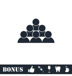 Team icon flat vector image