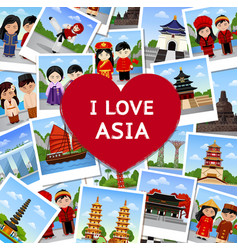 Travel to asia vector