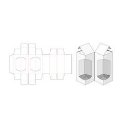twin packaging box die cut template design vector image