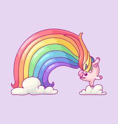 Volume rainbow unicorn vector