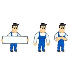 Work man mascot vector