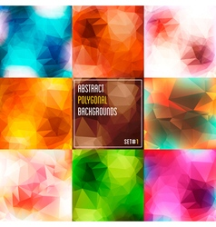 Abstract Polygonal Backgrounds Set 1 vector image vector image