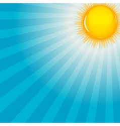 Cloud and sunny background vector image