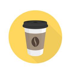 coffee flat icon vector image vector image