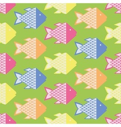 Colorful fish pattern vector image