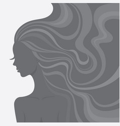 fashion line art silhouette of a beautiful woman vector image vector image