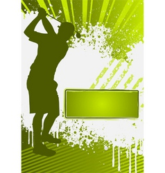 golf grunge poster template vector image vector image