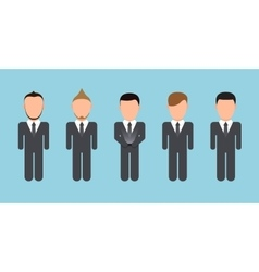 modern people silhouettes set on blue vector image vector image