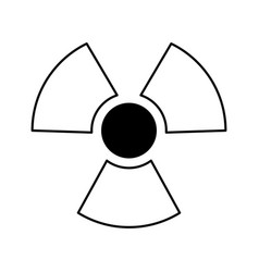 nuclear sign isolated icon vector image vector image