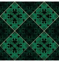 Patchwork emerald green texture vector image vector image