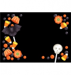 halloween candy postcard vector image vector image