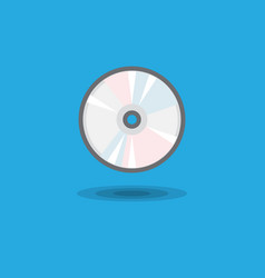 icon cd drive for computer or music cd disk vector image vector image