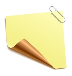 note with paper-clip vector image vector image