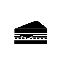 sandwich icon black sign on vector image