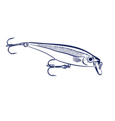 spinning lure wobblers vector image vector image