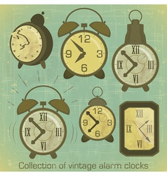 Vintage Alarm Clocks vector image