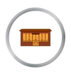 Cafe icon cartoon single building icon from the vector