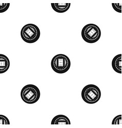 round stadium top view pattern seamless black vector image vector image