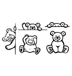bears vector image vector image