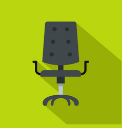 black office chair icon flat style vector image vector image