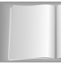 Blank Magazine Page vector image vector image