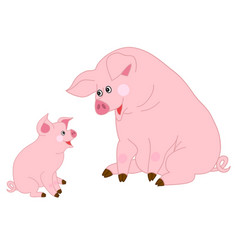 cute cartoon pigs vector image