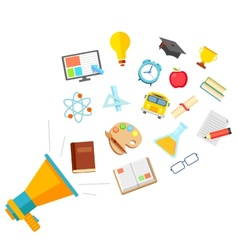 Flat Education Concept vector image vector image