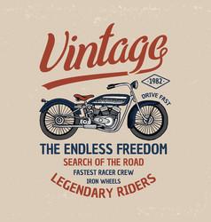 motorcycle or motorbike logo emblem vector image