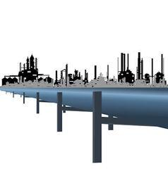 Oil pipeline vector image vector image