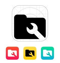 Repair Folder icon vector image vector image