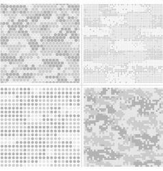 Seamless digital Pixel Camouflage vector image vector image