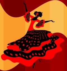 Spanish woman dancer vector image