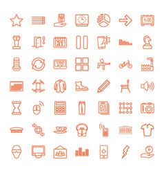 49 modern icons vector image